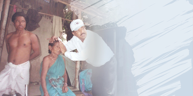 Eye examination in rural India