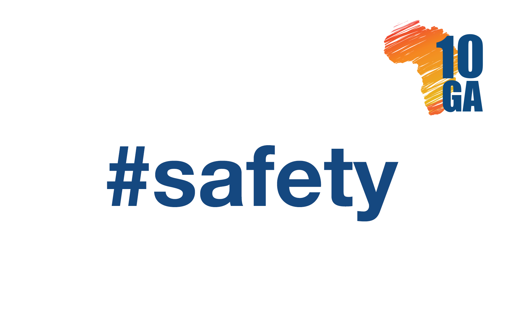hashtag safety with 10GA logo