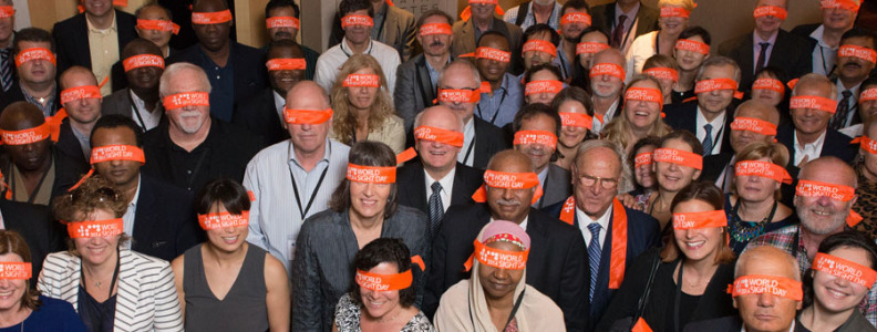 IAPB members blindfolded to mark WSD